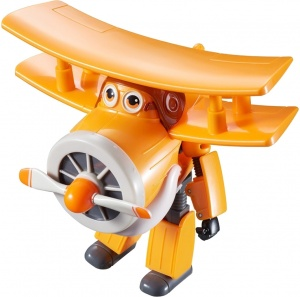 Super Wings speelfiguur Transforming! Grand Albert 12 cm oranje