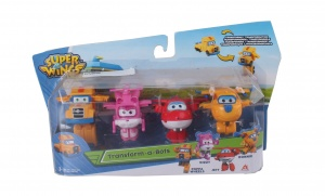 Super Wings transform-a-Bots figurenset Poppa wheel