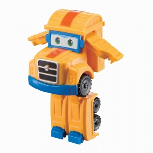 Super Wings transform-a-Bots mini speelfiguur Poppa Wheels