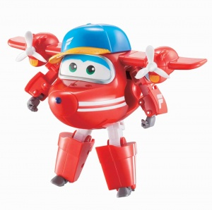 Super Wings transforming speelfiguur Flip 12 cm