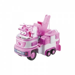 Super Wings transforming Vehicle Dizzy roze