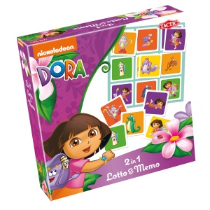 Tactic 2 in 1 spel Dora Lotto&Memo