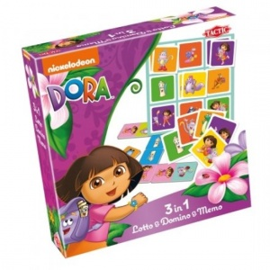 Tactic 3 in 1 spel Dora Lotto, Domino & Memo