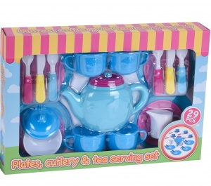 Tender Toys theeservies 29-delig blauw