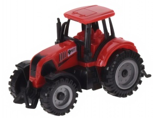 Tender Toys tractor 10,5 cm rood
