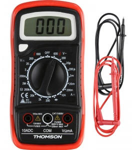 Thomson digitale multimeter schokbestendig 5 functies