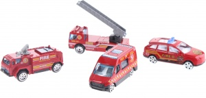 Toi-Toys brandweerset Fire Rescue 4-delig
