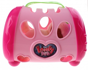 Toi-Toys hond in bench roze 18 cm