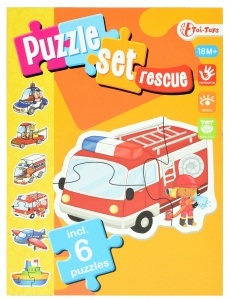 Toi-Toys hulpdiensten puzzelset incl 6 puzzels