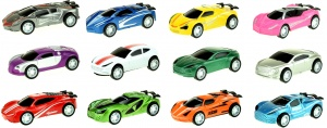Toi-Toys raceauto's pull back 12-delig 7 cm multicolor