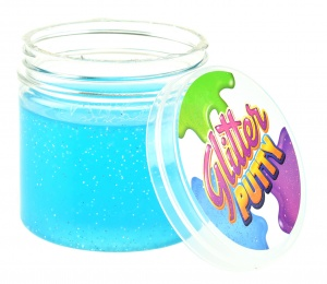Toi-Toys slijm Glitter Putty junior 200 ml blauw