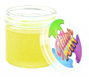 Toi-Toys slijm Glitter Putty junior 200 ml geel