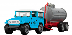 Toi-Toys jeep Off-Road junior 24 cm blauw 2-delig