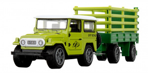 Toi-Toys jeep Off-Road junior 24 cm groen 2-delig