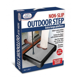 North American Health and Wellness anti-slip opstap 50,5 x 39,5 cm zwart/grijs