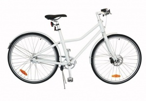 TOM City Bike Deluxe 28 Inch Unisex 2V Terugtraprem Wit