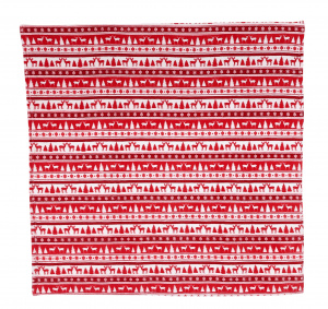 TOM plaid 170 x 130 cm polyester rood/wit