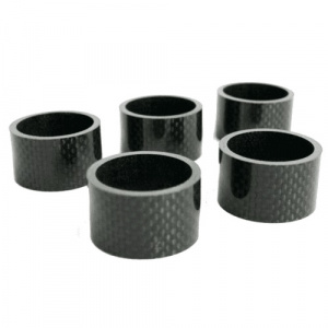 TOM spacers 1-1/8 inch 20 mm carbon zwart 5 stuks