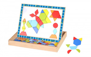 Tooky Toy magneetpuzzel junior 29,5 x 22 cm hout blauw/wit