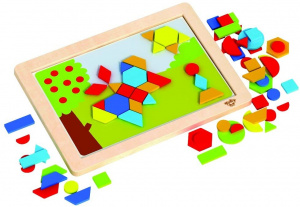 Tooky Toy magnetische legpuzzel junior 38 cm hout/staal 74-delig