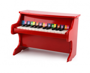 Tooky Toy mini-piano 41,5 x 25 x 29,5 cm hout rood