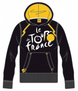 Tour de france Hooded Sweater Heren Logo Zwart Geel