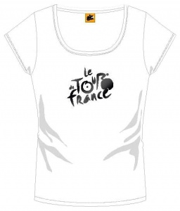 Tour de france T-Shirt Dames Met Logo Wit
