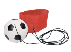 Toys Pure Voetbal Aan Armband: Rood 6,3 cm
