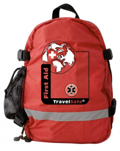 TravelSafe ehbo-tas First Aid 580 g polyester rood