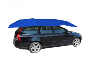 United Entertainment autoparaplu 400 x 210 cm nylon/PVC donkerblauw