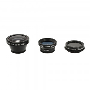 United Entertainment clip-on lens Objektiv 4-in-1 zwart 10-delig