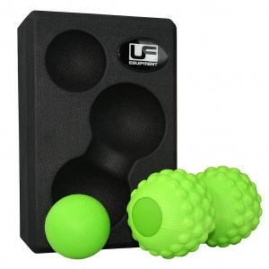 Urban Fitness massageset foam zwart/groen 3-delig