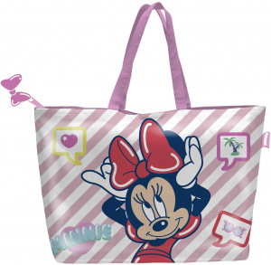 Arditex strandtas Minnie Mouse 48 x 32 cm polyester roze