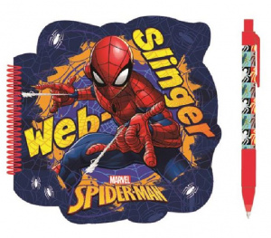 W&O notitieboek Spiderman junior 19,5 x 20 cm karton 2-delig