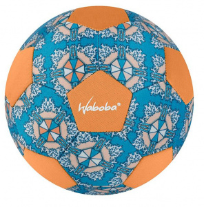 Waboba mini strandvoetbal junior 200 mm rubber blauw/oranje