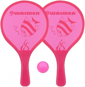 Waimea beachball set Animal 3-delig roze