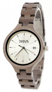 Wave Hawaii horloge Citizen Miyota dames 3,7 hout bruin/wit