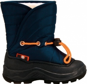 Winter-Grip Snowboots junior blauw / oranje