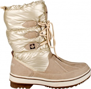 Winter-Grip Snowboots Lace Up Taupe Dames