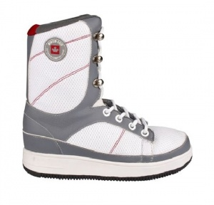 Winter-Grip Snowboots unisex grijs/ wit