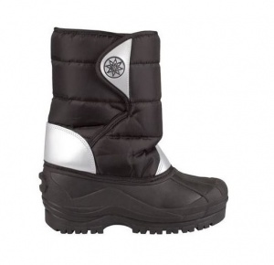 Winter-Grip Snowboots zwart/ zilver junior