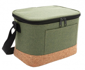 XD Collection koeltas 6 liter polyester/kurk groen/naturel