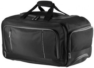 XD Collection weekendtas trolley 40 liter microfiber/suède zwart