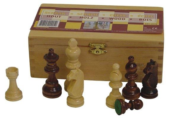 houten schaakstukken 93 mm