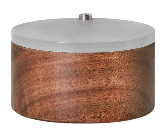 Adhoc kruidenpotje Spico 9,7 x 5,4 cm hout bruin