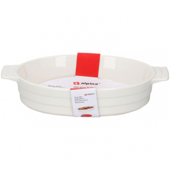 ovenschaal 1,5 liter 31x18,5x6 cm keramiek wit