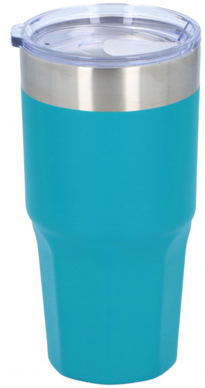 thermosbeker 500 ml polypropyleen/RVS blauw