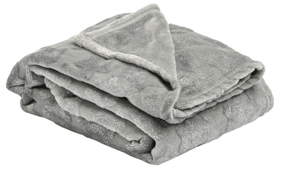 deken Nutcracker 120 x 160 cm polyester grijs