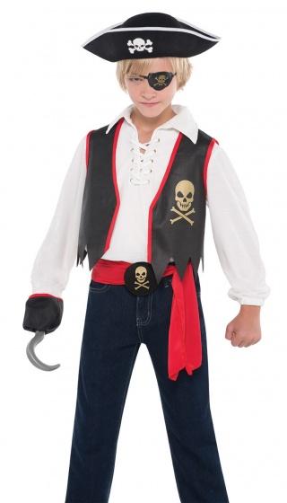 verkleedkostuum Pirate jongens maat 158 4-delig