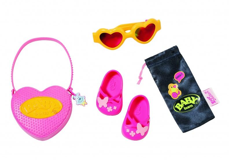 accessoireset Boutique 43 cm roze/geel